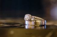 Katie and Andrew's wedding bands - Photo by Joe Foley Photography